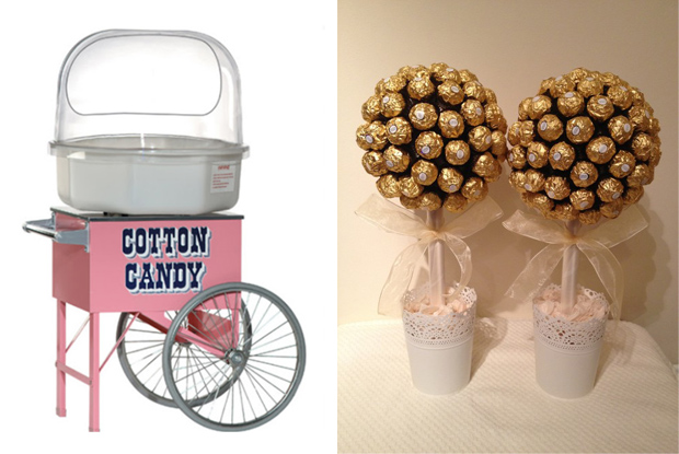 candylady_ireland_candy_floss_cart_ferrero_rocher_trees