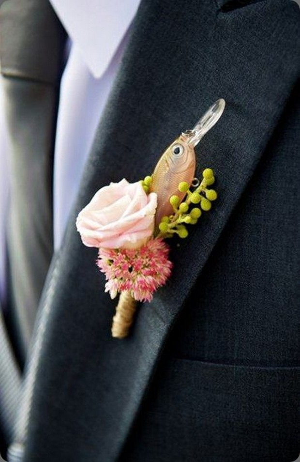 30 Brilliant Unique Wedding Boutonnieres Buttonholes