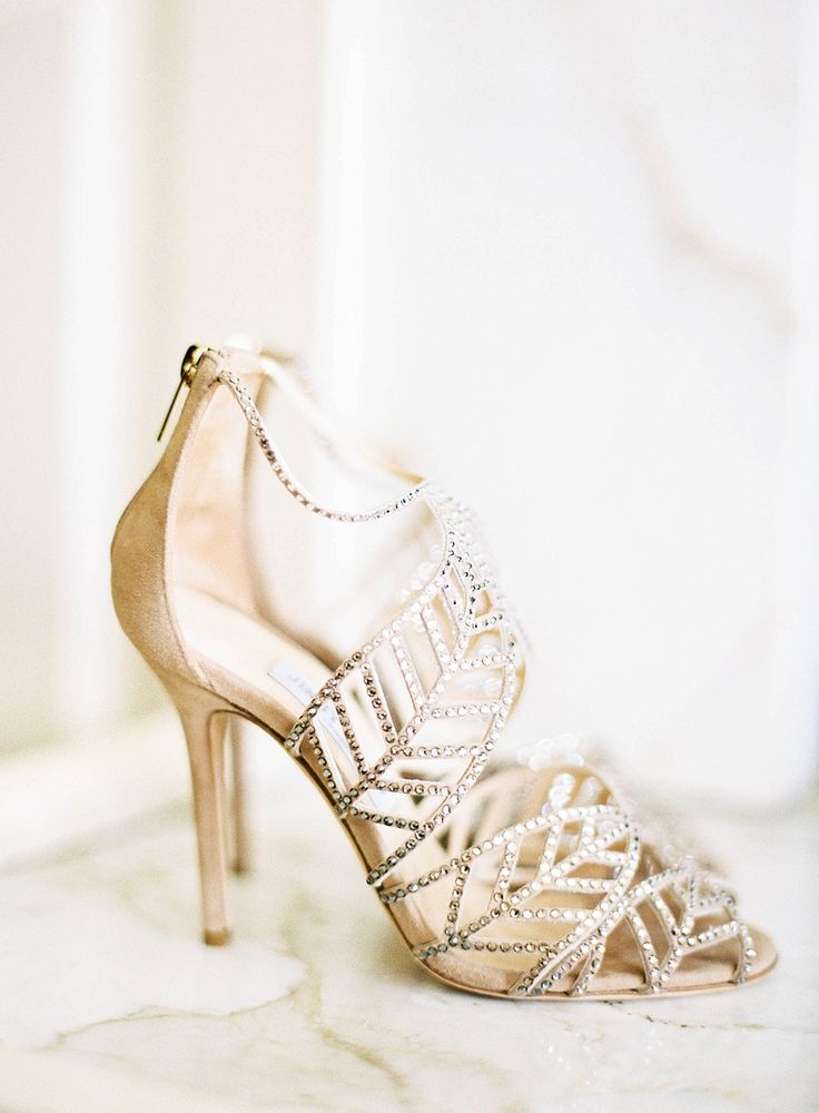White Wedding Shoes With Strap