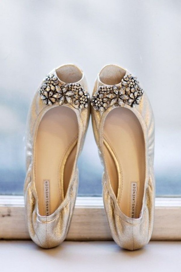 silver rhinestone flat wedding shoes vera wang lavendar