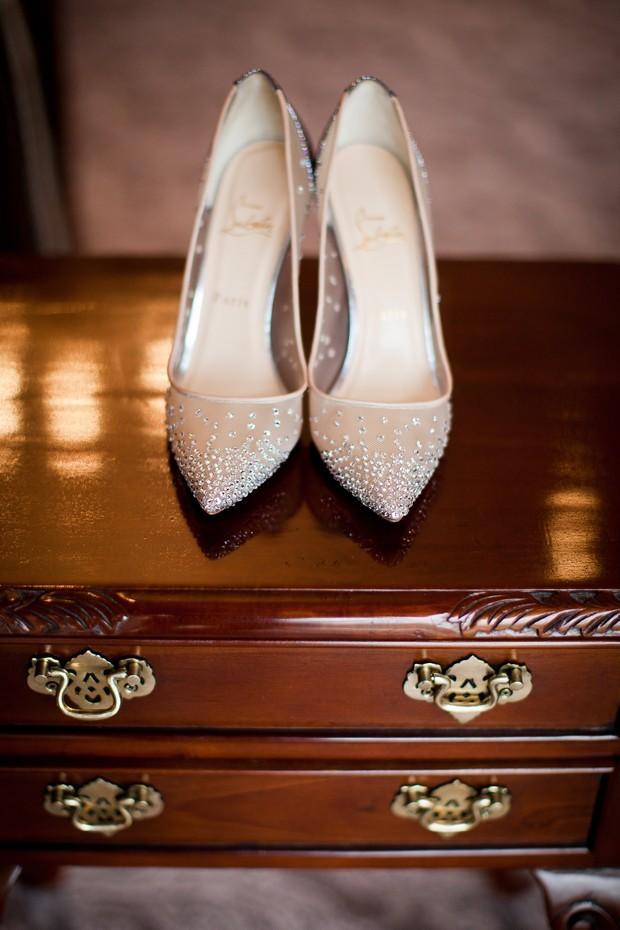 Silver Mesh Sparkle Christian Louboutin Wedding Shoes