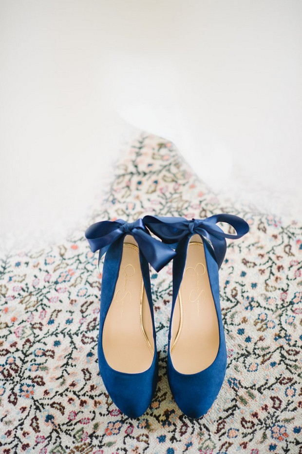 Navy Blue Bow Wedding Shoes by Jessica Simpson