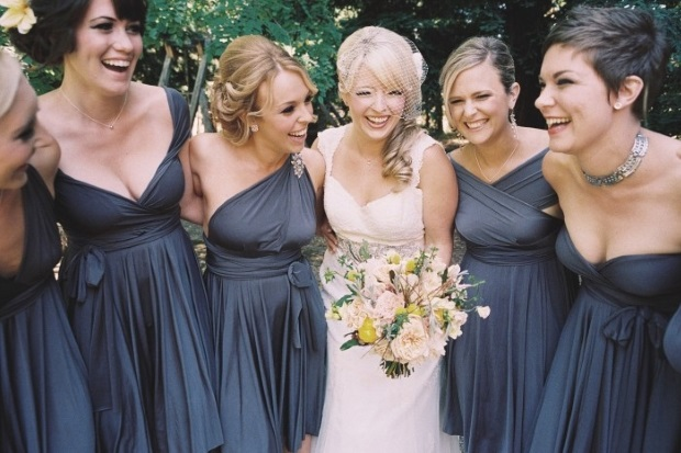 Steel Blue Bridesmaid Dresses - Ocodea.com
