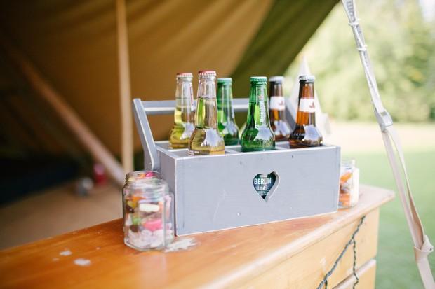 Drink crate bottles