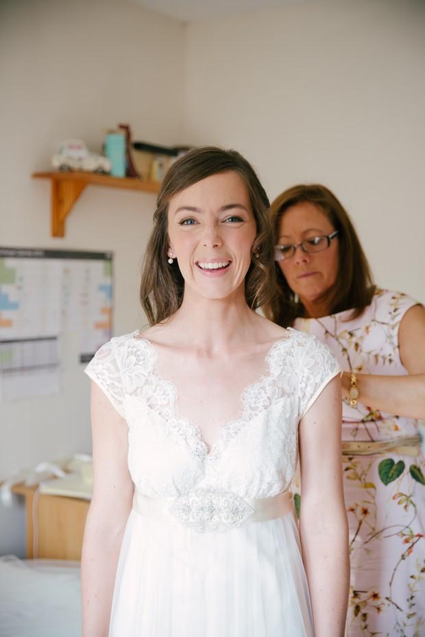 Natural make up real bride
