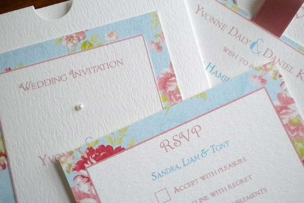 18 Fabulous Floral Spring Wedding Invitations