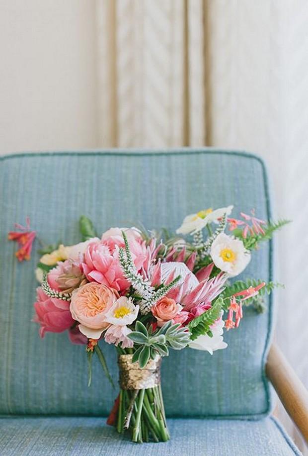 gold_sequin_Wrapped_Wedding_bouquet_dooleysflowersathlone