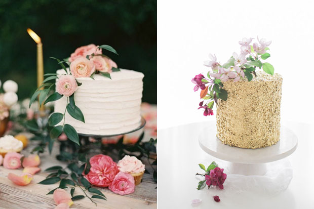 25 Stunning Single Tier Wedding Cakes | weddingsonline