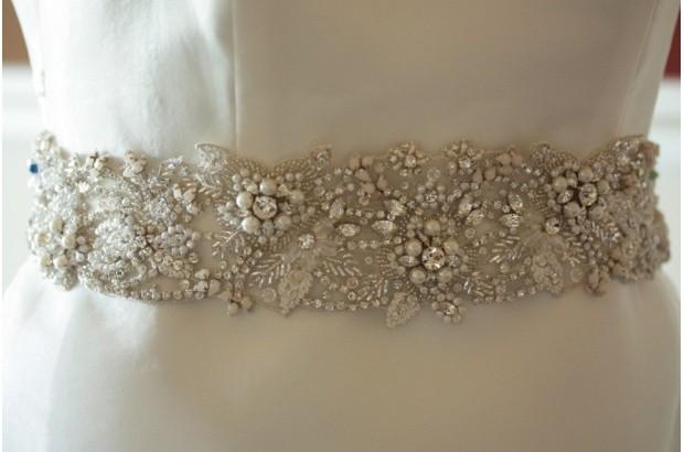 11 seriously stylish bridal sashes belts weddingsonline classic pearl crystal bridal sash pearlcrystalbridalsashloveezraireland solutioingenieria Images