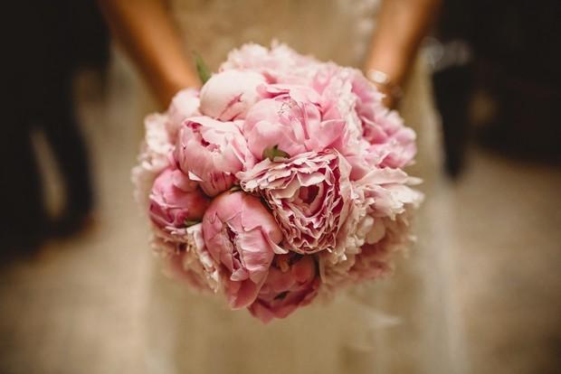 spring_pink_peonies_Wedding_bouquet_rome