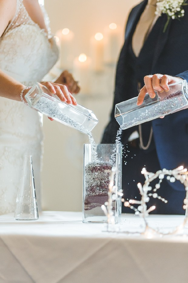 29 Glitter Sand Ceremony Pouring Vase Real Wedding