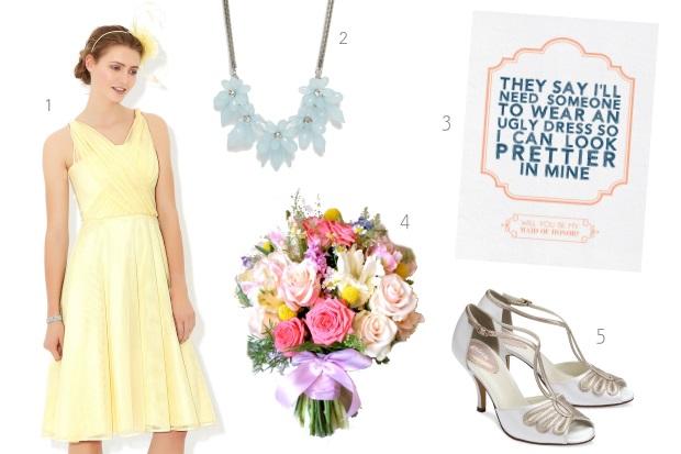 Yellow Summer Bridesmaid Dresses 121