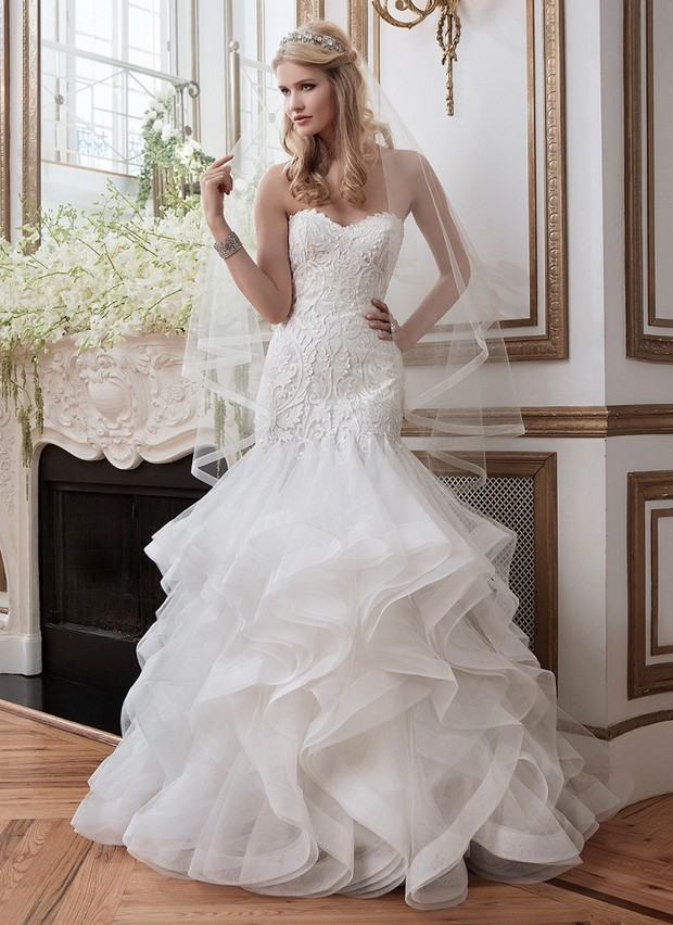 Justin Alexander Lace Wedding Dress