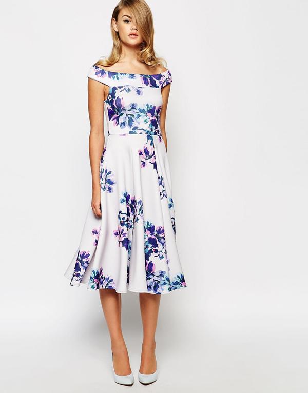 Off The Shoulder True Violet Dress Wedding Guest