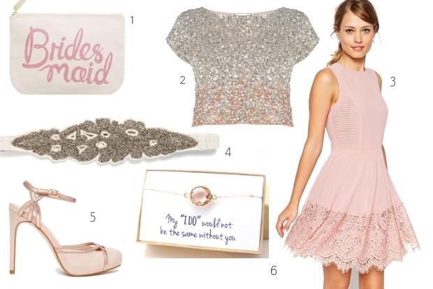 short-pink-casual-bridesmaid-dress-style