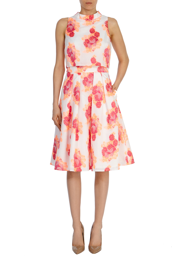 wedding-guest-fashion-cream-peach-pink-floral-dress