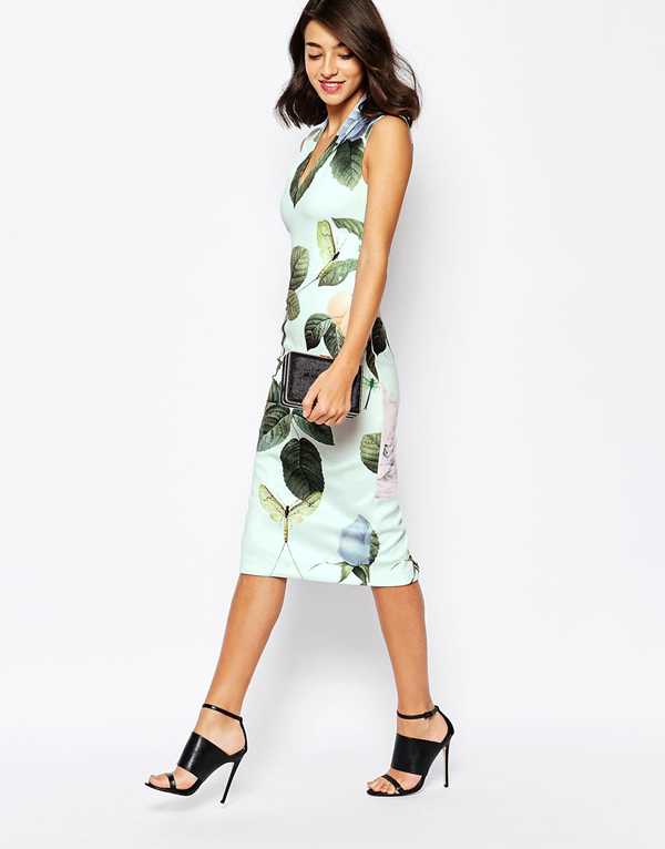 wedding-guest-fashion-floral-pencil-dress-ted-baker