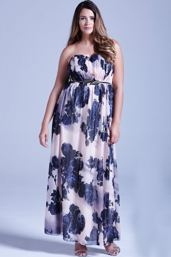 wedding-guest-fashion-plus-size-navy-pink-floral-maxi-dress