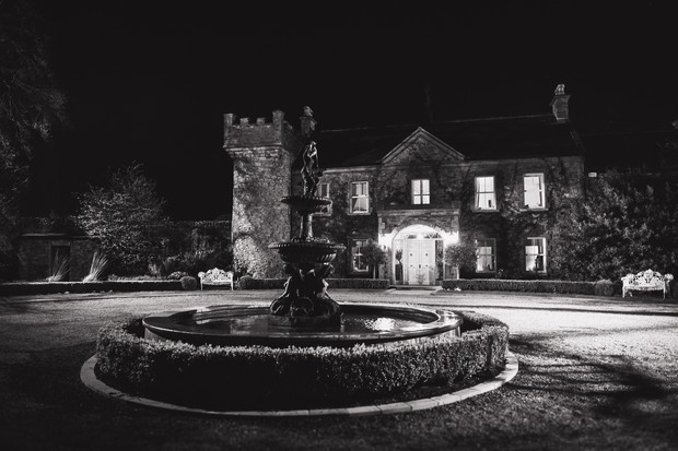 ballymagarvey-village-wedding-venue-at-night