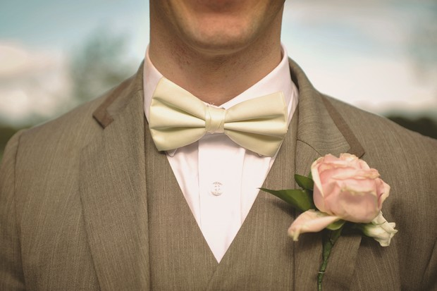 blush-pink-rose-wedding-button-hole-cream-bowtie