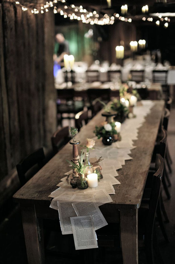 book-paper-table-runner-wedding