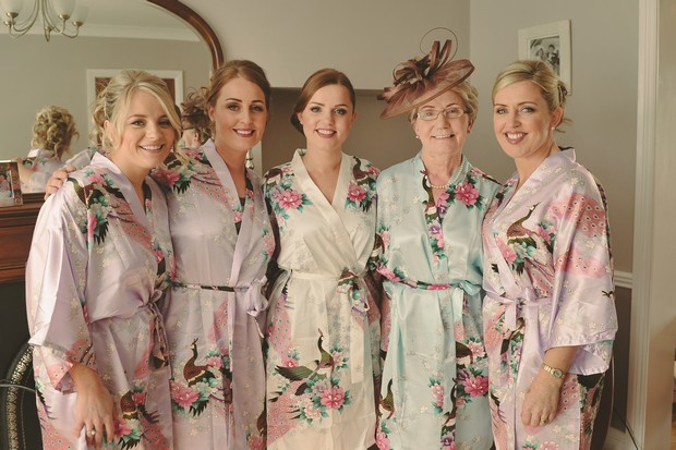 bride-bridesmaids-silk-floral-robes-morning-ireland