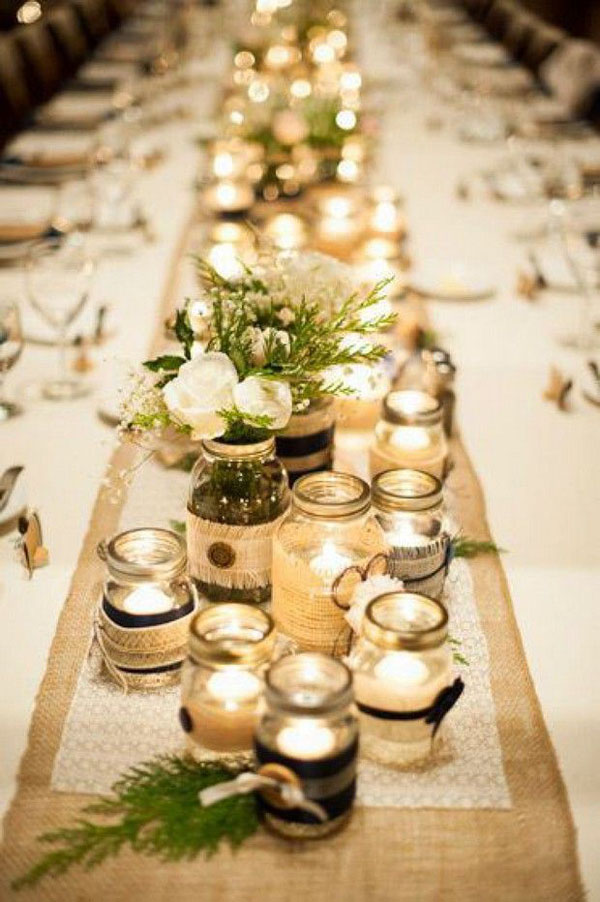 cluster-mason-jars-table-runner-wedding