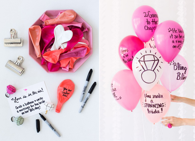 Diy Balloon Wishes Hen Party Decor Idea Gift