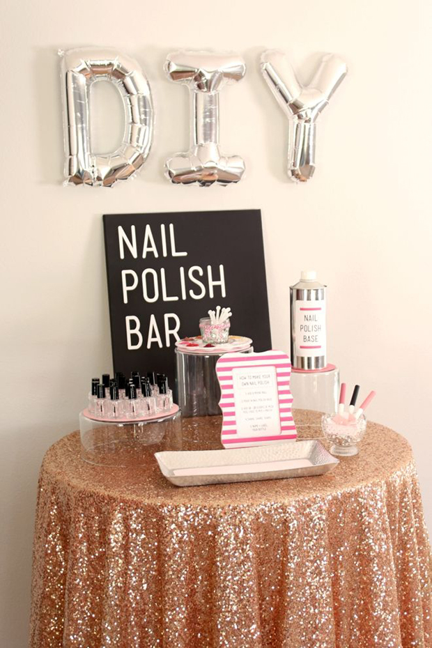 10 awesome ideas for hen parties weddingsonline diy nail manicure booth hen party solutioingenieria Choice Image