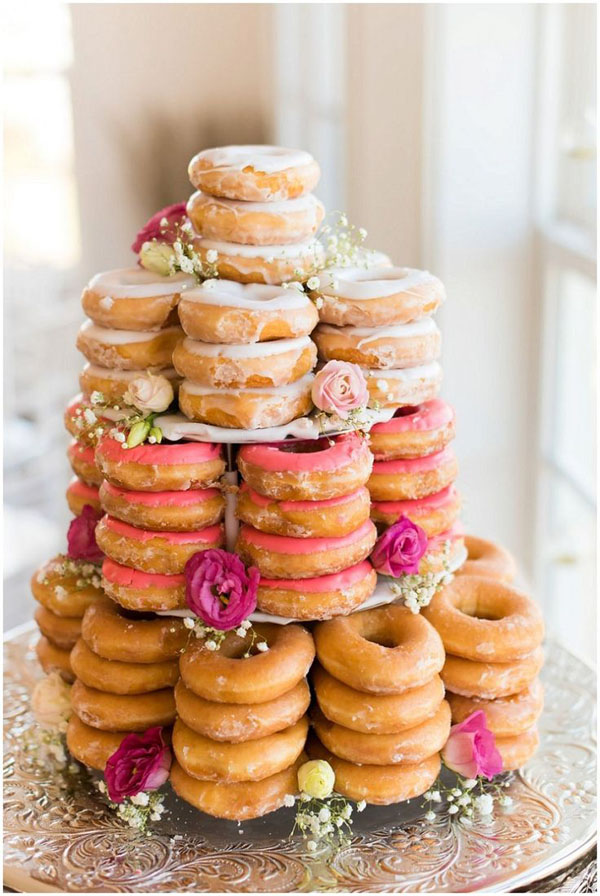 doughnut wedding cake 18 incredibly wedding cakes weddingsonline 13710