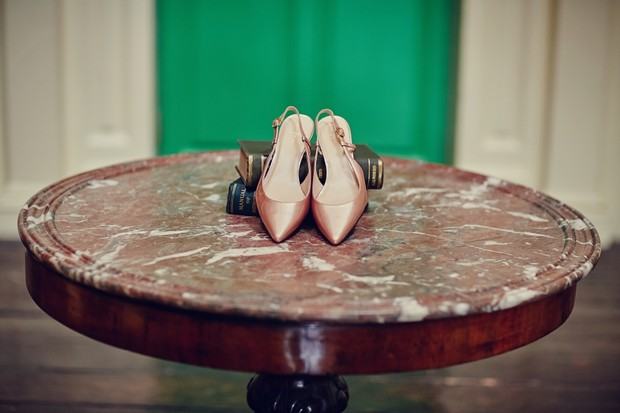 flat-wedding-shoes-peach-pointy-sling-backs
