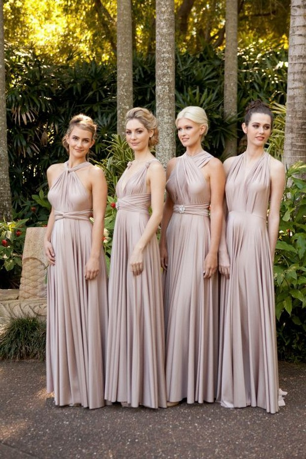 Dess By Nature Convertible Bridesmaid Dress Grey