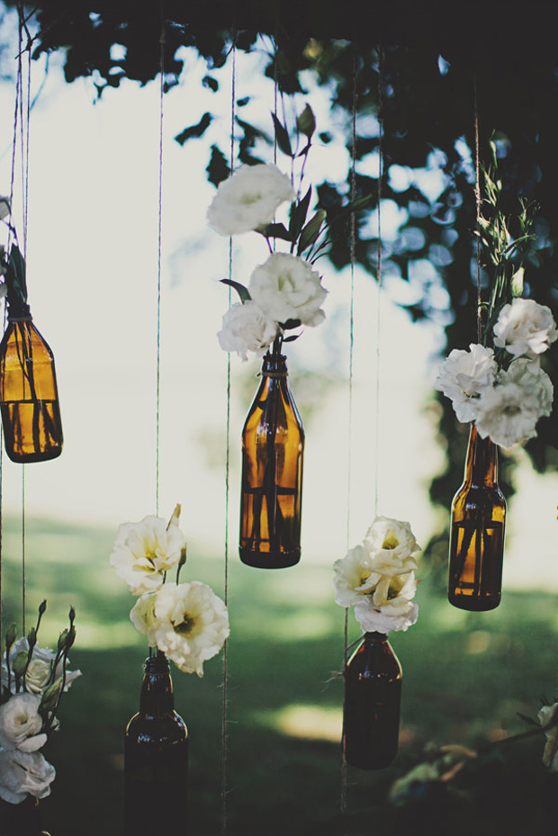 15 creative ways to use bottles in your wedding decor