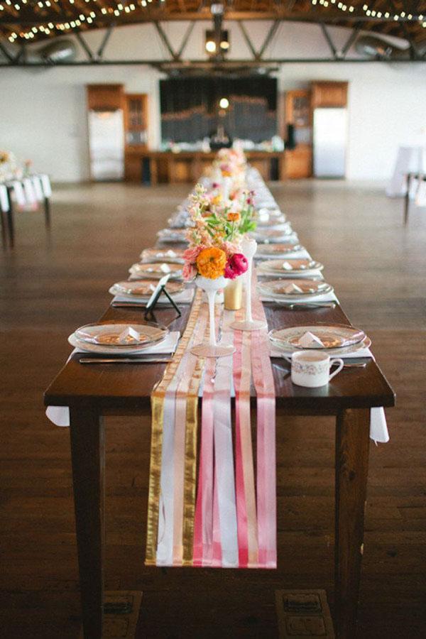 14 Fabulous Wedding Table Runners Weddingsonline
