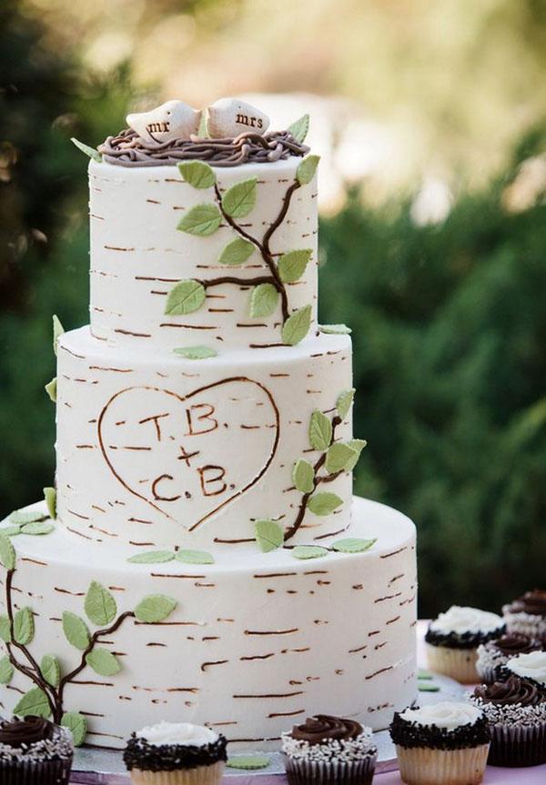 rustic_tree_bark_wedding_Cake