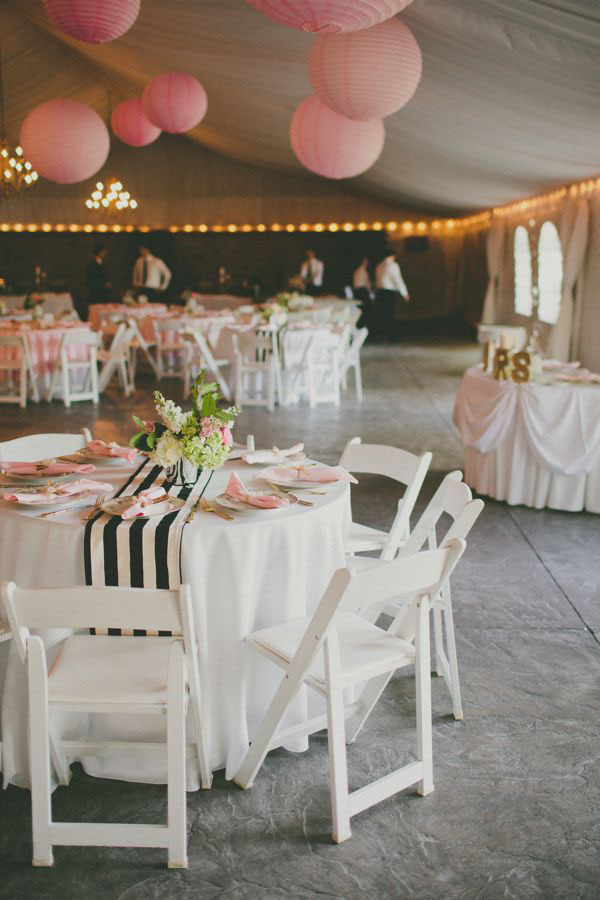 striped-fabric-table-runner-wedding