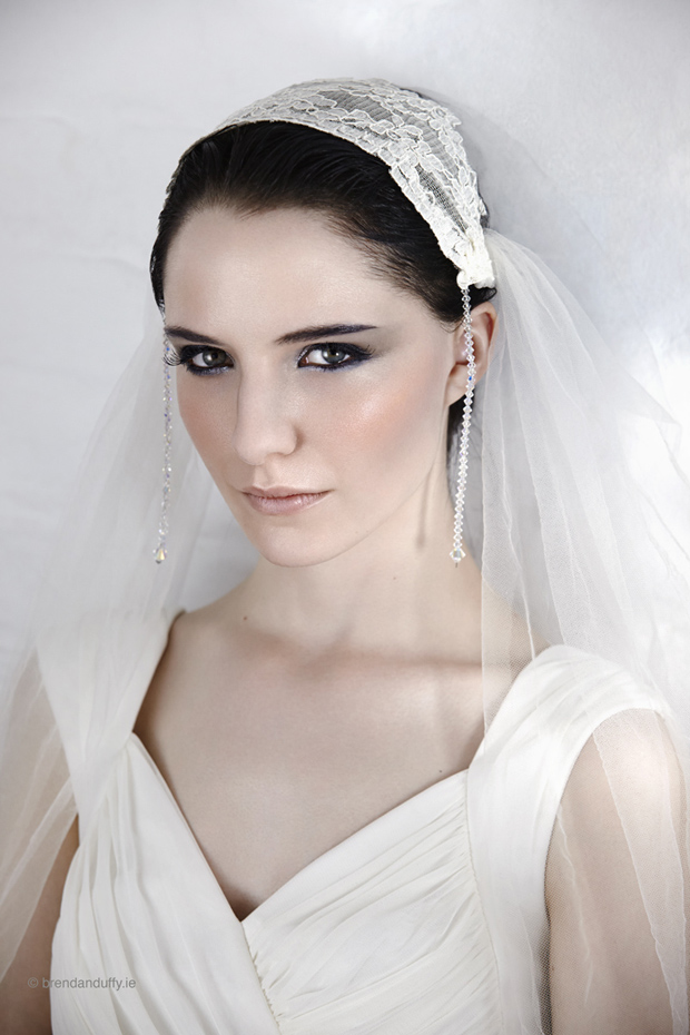 Bridal veils by Wilde by Design, photographed at the Mill Studios, Dublin on Wednesday, 20 August 2014. Photography by Brendan Duffy, Make Up and Hair by Louise Myler, Styling by Jill Anderson, Model, Suzi at Distinct Model Management.