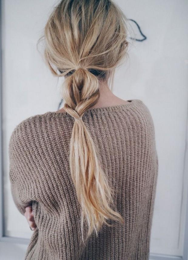 soft loose braid boho style casual hair