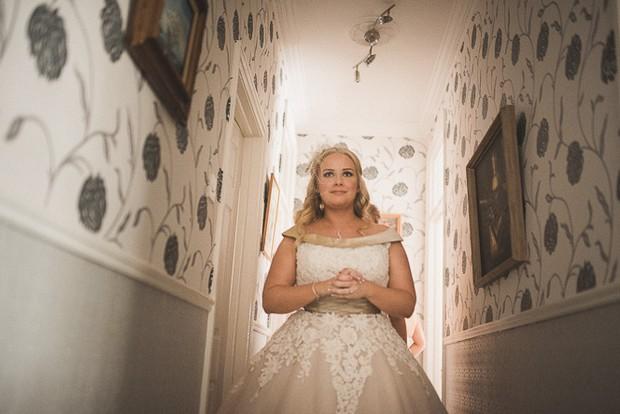 bride-in-tea-length-lace-applique-justin-alexander-wedding-dress (2)