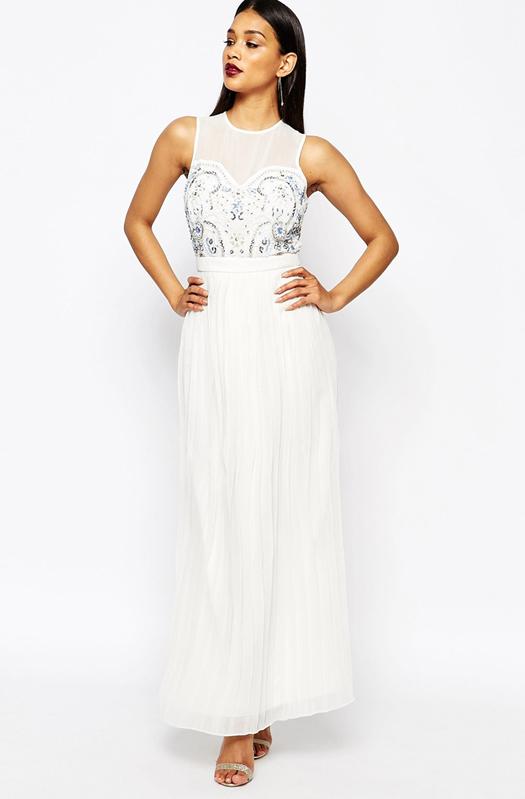 Black and white maxi dress asos