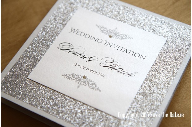 Save The Date Invite with luxury invitations sample