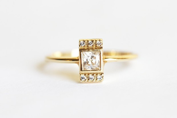 princess-diamond-engagement-ring-modern-minimalistvs-etsy