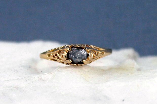 raw-diamond-engagement-ring-engaged-jewelry-etsy