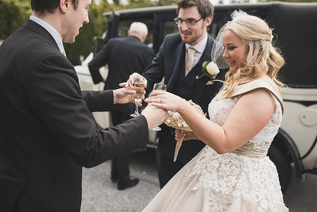 real-wedding-at-summerhill-house-hotel-entrance-champagne