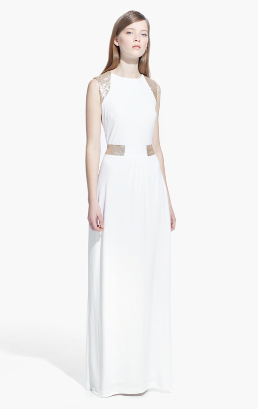 white-bridesmaid-dress-with-gold-embellishment-mango