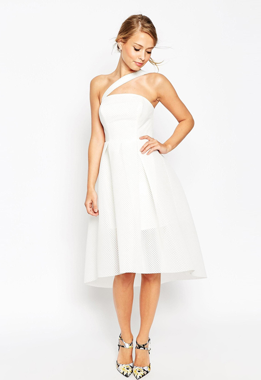 white-bridesmaid-dress-with-strap-asos