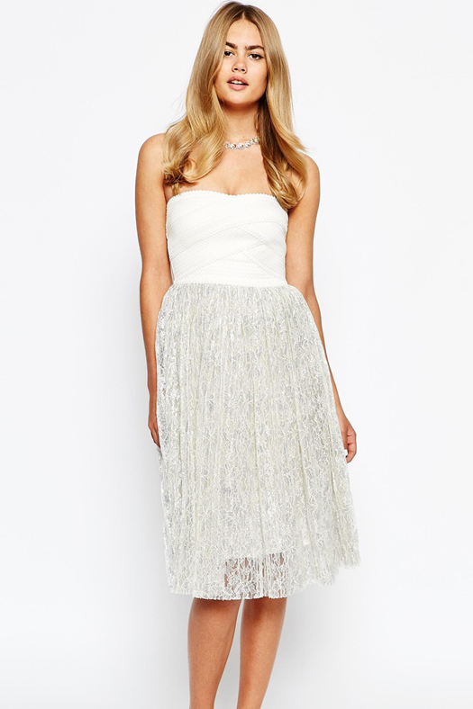white-strapless-bridesmaid-dress-river-island