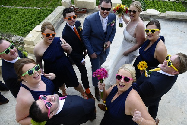 bridal-party-incolourful-sunglasses-real-wedding-malta