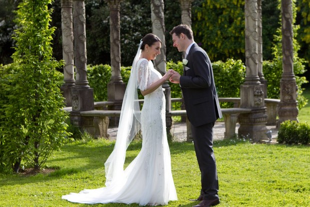 bride-and-groom-on-grounds-of-ballyseede-castle-kerry