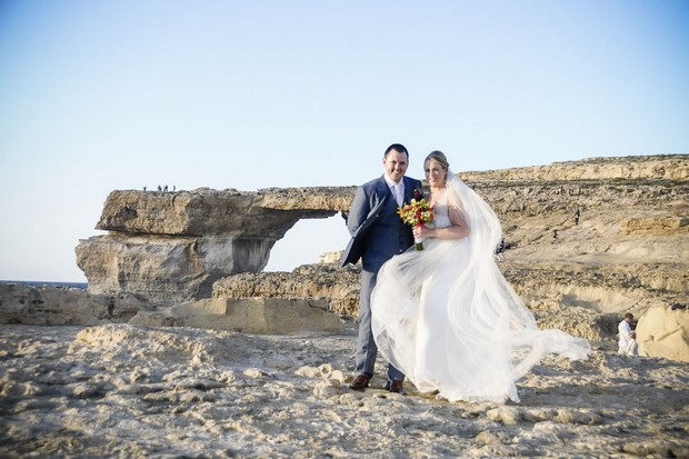bride-and-groom-on-the-beach-in-malta